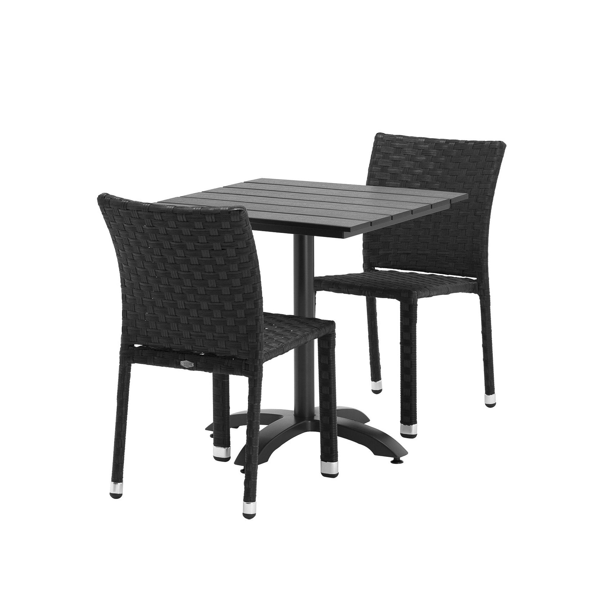 ebe33d423b66a Zostava: Záhradný stôl + 2 ratanové stoličky bez opierok rúk